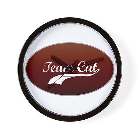 Team Cat Wall Clock