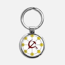 communist Round Keychain