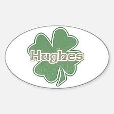 """Shamrock - Hughes"" Oval Decal"