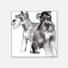 "schnauzers Square Sticker 3"" x 3"""