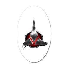 Star Trek KLINGON Metal Logo Wall Decal