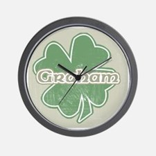 """Shamrock - Graham"" Wall Clock"