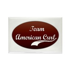 Team Curl Rectangle Magnet