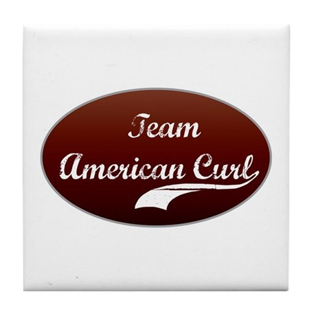 Team Curl Tile Coaster