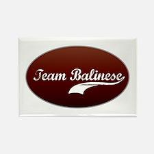 Team Balinese Rectangle Magnet