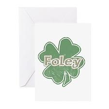 """""""Shamrock - Foley"""" Greeting Cards (Pk of 10)"""