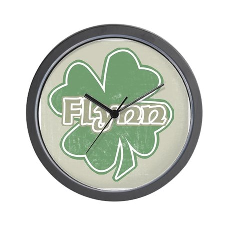 """Shamrock - Flynn"" Wall Clock"
