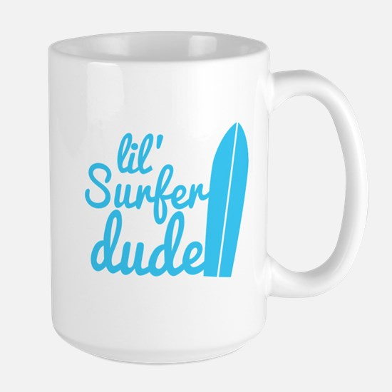 lil (Little) Surfer dude! with surfboard Mugs