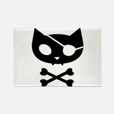 Pirate Kitty Rectangle Magnet