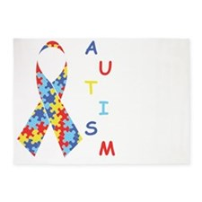 Autism Fact 5'x7'Area Rug