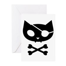 Pirate Kitty Greeting Cards (Pk of 10)