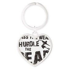 hurdle the dead Heart Keychain