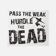 hurdle the dead Throw Blanket