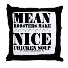 MEAN-ROOSTER Throw Pillow