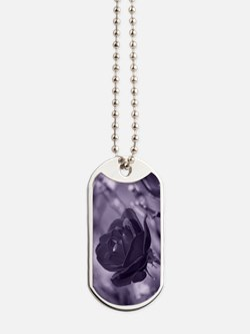Purple Rose Dog Tags