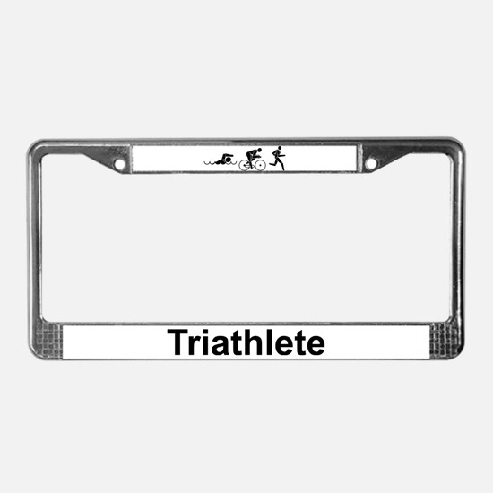 Men's Triathlete License Plate Frame