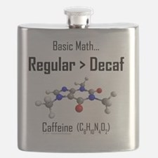 Regular vs Decaf shirt Flask