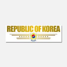 South Korea (Flag 10) pocket 2 Car Magnet 10 x 3