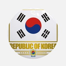 South Korea (Flag 10) Round Ornament
