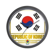 South Korea (Flag 10) Wall Clock