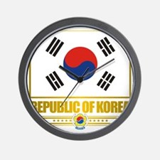 South Korea (Flag 10) Wall Clock