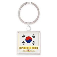 South Korea (Flag 10) Square Keychain