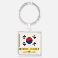 South Korea (Flag 10) Square Keychain