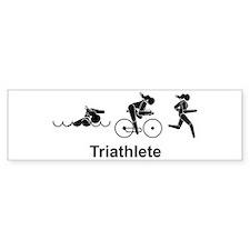 Ladies' Triathlete Bumper Bumper Sticker