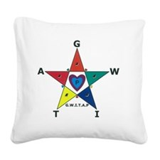 Gwitap Progress 5-point Star  Square Canvas Pillow