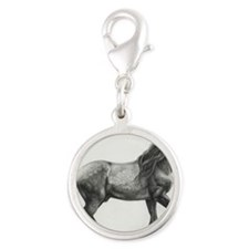 Andalusian_commish_by_moodyman Silver Round Charm