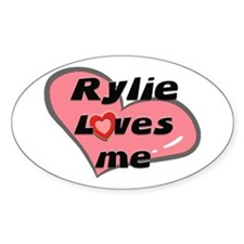 rylie loves me Oval Decal