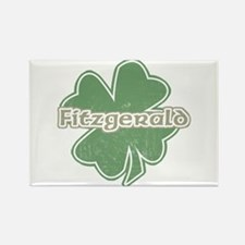 """Shamrock - Fitzpatrick"" Rectangle Magnet"