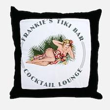 Frankies Tikki 2 clock Throw Pillow