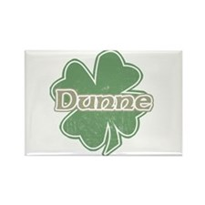 """Shamrock - Dunne"" Rectangle Magnet"