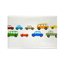 Cars and Trucks Rectangle Magnet