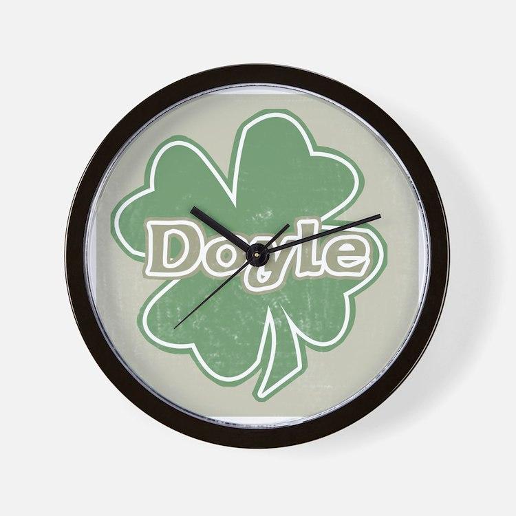 """Shamrock - Doyle"" Wall Clock"