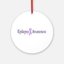Epilepsy Awareness Ornament (Round)