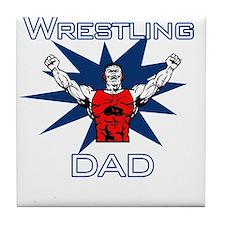 Wrestling Dad Tile Coaster