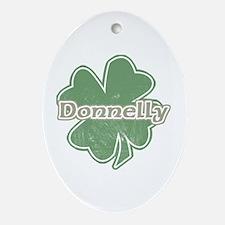 """Shamrock - Donnelly"" Oval Ornament"