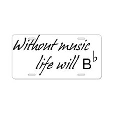 Without music Aluminum License Plate