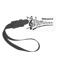 Partiture Luggage Tag
