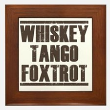 whiskey Framed Tile