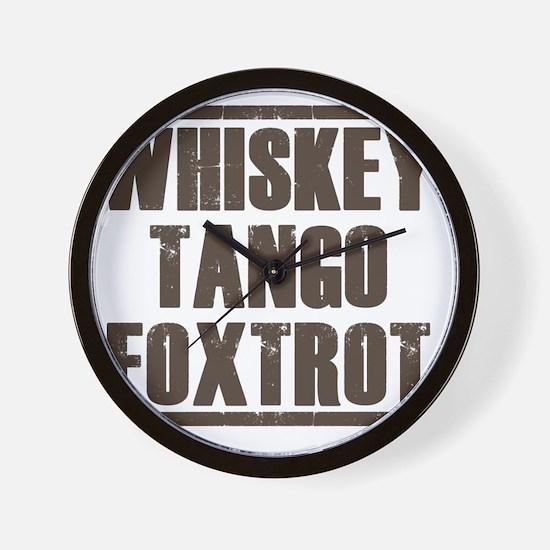 whiskey Wall Clock