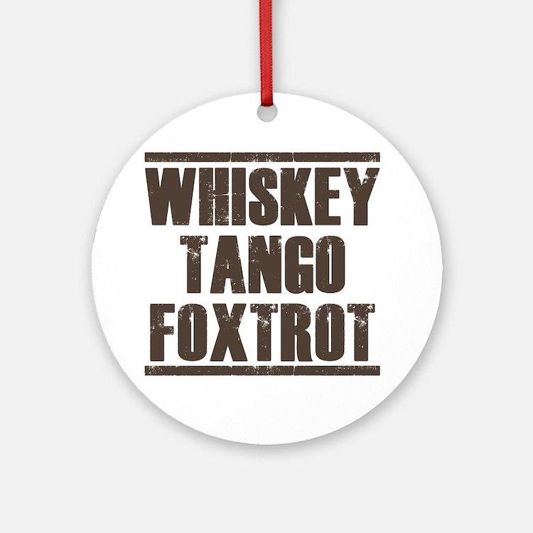 whiskey Round Ornament
