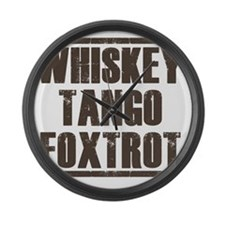 whiskey Large Wall Clock