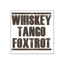 "whiskey Square Sticker 3"" x 3"""