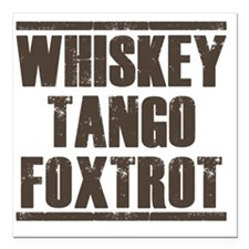 "whiskey Square Car Magnet 3"" x 3"""