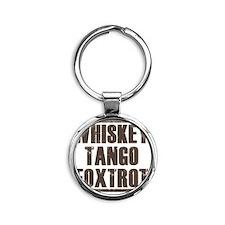 whiskey Round Keychain