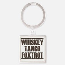 whiskey Square Keychain