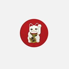 White Maneki Neko Mini Button